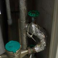 1.水の元栓を閉める