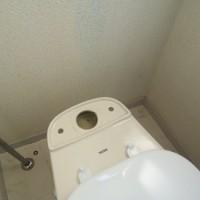 1.給水を止め、タンクと給水部分を外してから、取付ボルトを外し、タンクをゆっくり上に持ち上げる