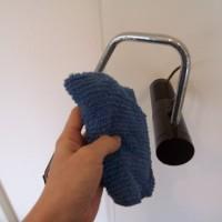 2.とりあえず雑巾で拭いてみる