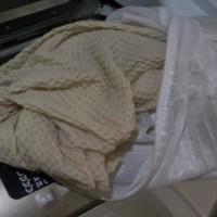 4.洗濯機で脱水3分