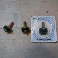 11.ケレップ(コマパッキン)も交換。ゴムを交換できる左のタイプでも、使い捨ての右のタイプでも効果は一緒。
