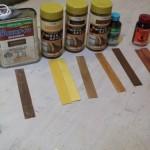 13.塗装。塗料はいろんな種類でOK。光沢具合も色もいろいろあると深みが出ます。