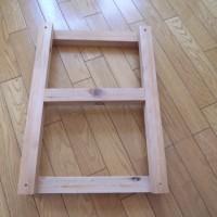 12.木枠を作成。厚みはレールの長さにあわせて調整してます