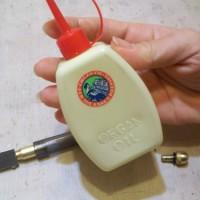 14.専用のオイルは無いので、機械油で代用。100均にも売ってます