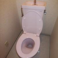 23.手洗い金具を接続したら、元栓を開ける。何回か水を流して、完成。