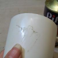 27.これを爪で擦ると消しゴムのかすみたいのが出てくるので、これを除光液でふき取る。綺麗になるまで除光液とピカールの繰り返し。