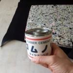 35.フェルトをチップウレタンにゴムノリで貼り付け